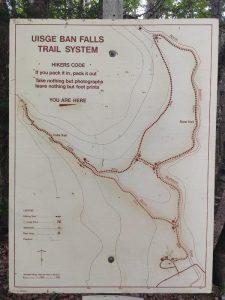 Usige Ban Falls Trail Map
